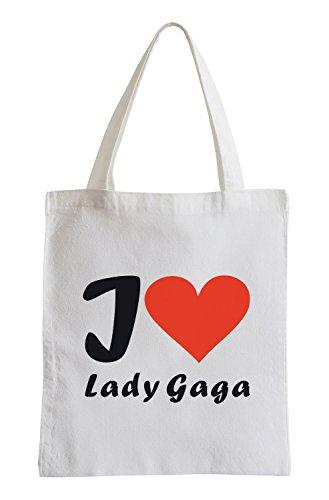 Amo Lady Gaga Fun sacchetto di iuta