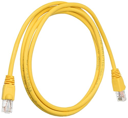 Snagless Yellow Boots - Black Box CAT6 250 MHz Ethernet Patch Cable - UTP, PVC, Snagless, Yellow, 6 ft.