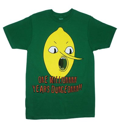 One Million Years Dungeon - Adventure Time Sheer T-shirt: Adult Small - Green