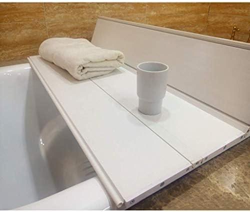 バスタブカバー防塵ボード折り畳み式バスタブ断熱カバーPVCホワイトウッドグレインブラケットバスバスタブバスカバーバスラックバス収納ラック (サイズ : 70*75*1.2CM)