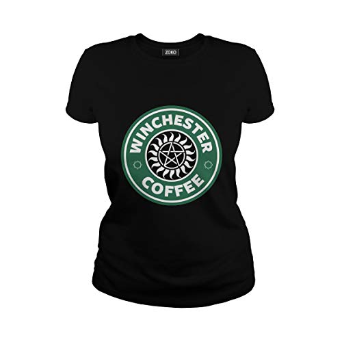 Women's Winchester Coffee T-Shirt (3XL, Black)