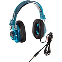 Califone 2924AVPS-BL Deluxe Stereo Headphones, Blueberry Color, Rugged Polypropylene Headstrap, ABS Plastic Earcups, Adjustable Headband, Volume Control Conveniently