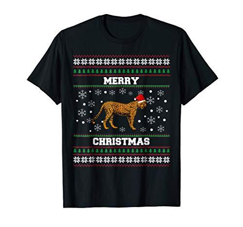 Cheetah Xmas Gifts Tee- Cheetah Ugly Christmas