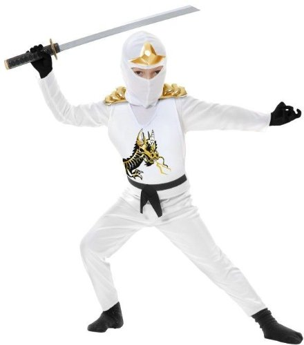 [Ninja Avenger II with Armor Costume - Medium] (White Ninja Costumes For Kids)