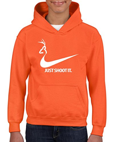 Artix Just Shoot It Deer Hunting Fashion People Couples Gifts Best Friend Gifts Unisex Hoodie For Girls and Boys Youth Kids Sweatshirt Clothing X-Large Orange