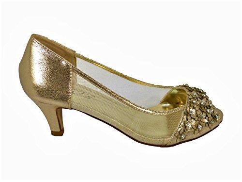 SKOS Damen Sandalen Gold (98-21)
