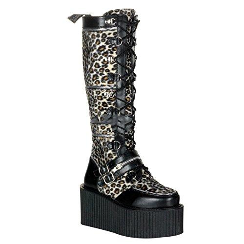 Demonia Creeper-812 - Gothic Punk Industrial Creeper Stiefel Schuhe 36-41
