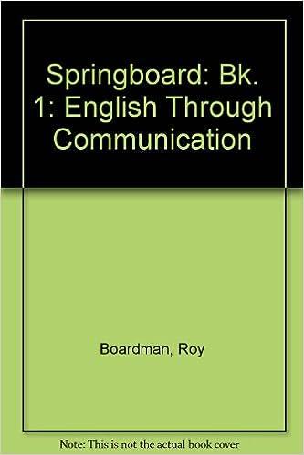 Amazon Springboard Bk 1 English Through Communication