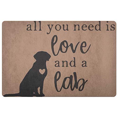 Lab Porch Door Mat - Personalized Doormat All You Need is Love and a Lab Doormats - Front Doormat - Door Mat Coir Doormat - Porch Decor - Wedding Gift - Housewarming Gift Rug