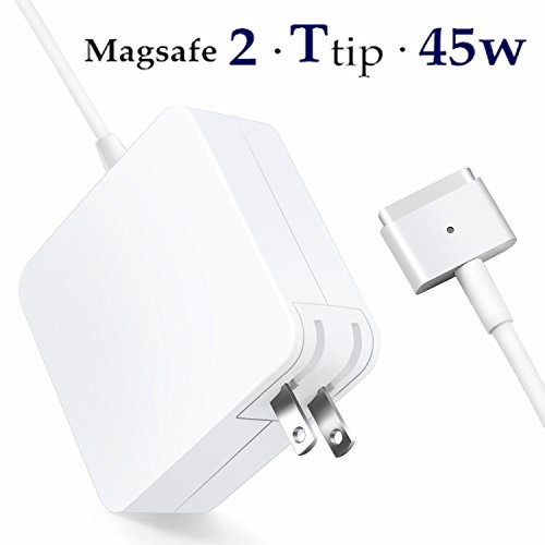 Macbook Air Charger,Replacement 45W Magsafe 2 Magnetic T-Tip Power Adapter for Macbook Air 11-inch and 13-inch by JJL Charger