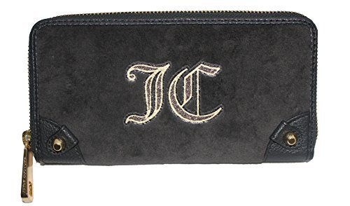 Juicy Couture Continental Velour Zip Wallet (Velour Zip Around Wallet)