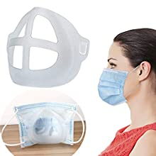 MonicaSun 3D Mask Bracket - Nasal Mask Pad - Inner Support Bracket Breathing - Mouth and Nose Protection Lipstick Increase Breathing Space Help Breathe Smoothly (5pack)