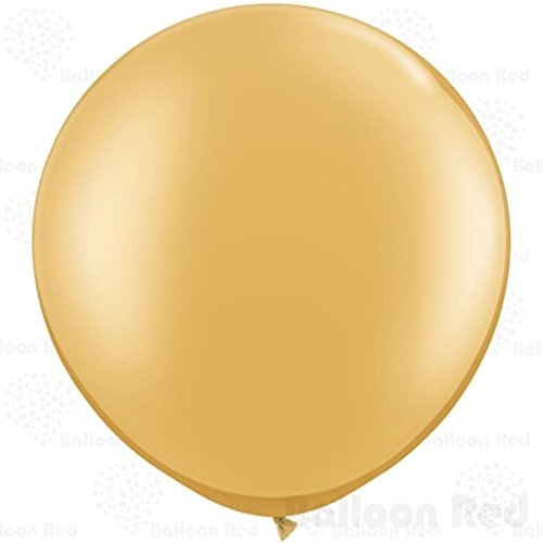 36 Inch Giant Jumbo Latex Balloons (Premium Helium Quality), Pack of 24, Gold
