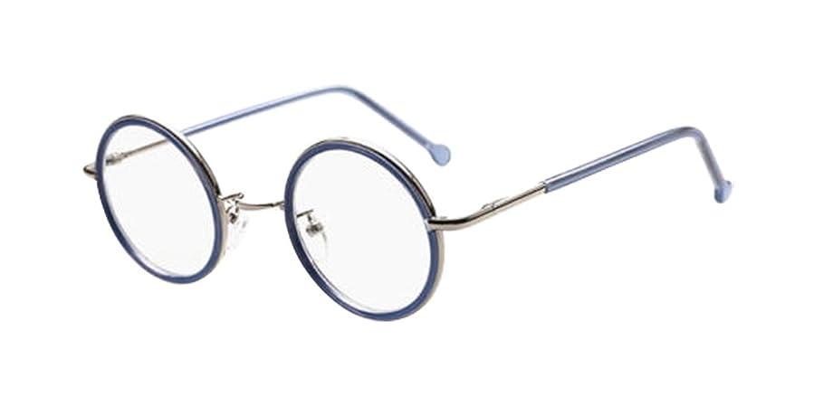Amazon.com: Blue Vintage Small Round Eyeglass Frames Glass ...