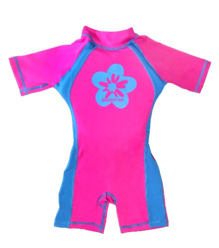 Float Suit - Swimfree Float Swimsuit For Kids Pink/blue Sun Protection Swim Suit SPF+50 Floating Trainer Floats Swimwear Size S Age 1.5-3.5 Years