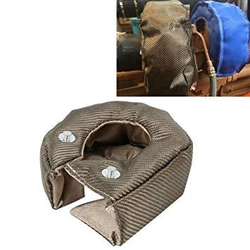 Uniqus Racing-T3 Turbo Turbine Heat Shield Cover T 3 Turbocharger Wrap Turbo Motor Barrier Thermal Shield Turbo Cover High Temperature Titanium Cover