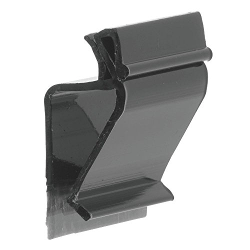 Sign Holder Clip, Black Plastic 1.25 Inches Long - 1 1/4 L, 50 per Pack by Hubert