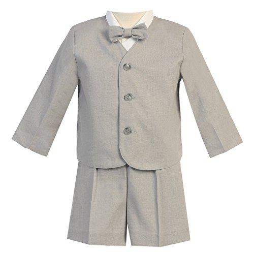 - Lito Little Boys Light Gray Eton Short Formal Ring Bearer Easter Suit 3T