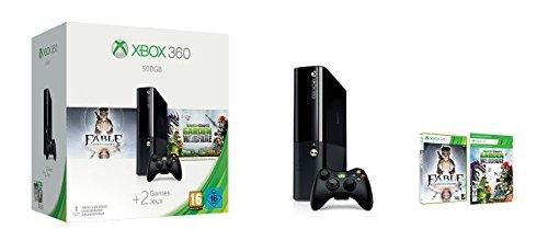 Xbox 360 – Consola De 500 GB + Plants VS Zombies + Fable Anniversary Bundle [Edición Italiana]
