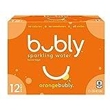 Bubly Orange Sparkling Water, Orange, 355 milliliters