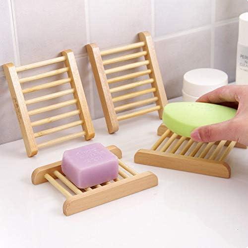 ソープディッシュ 石けん箱 石鹸ケース 石鹸置き 木製 お風呂 洗面所 収納 抗菌 石鹸ネット 環境保護 (Style 2)