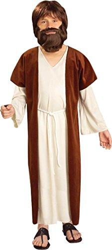 Biblical Era Costumes (Child's Christian Bible Messiah Jesus Nativity White Robe Costume Small 4-6)