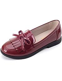 Girl's Casual School Uniform Dress Shoe Slip-on Ballet...