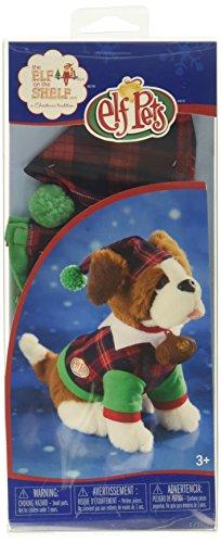 Elf on The Shelf Claus Couture Playful St Bernard PJs Doll, Red/Green]()