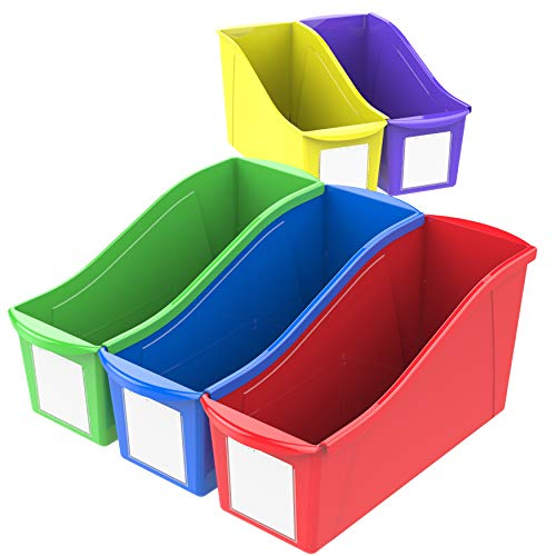 Storex Book Bins, 11-Inch, Assorted Colors, 30 Bins -