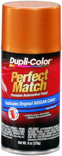 - Dupli-Color BNS0503 Orange Mist Metallic Nissan Perfect Match Automotive Paint - Aerosol, 8. Fluid_Ounces