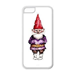 Unique Design Dwarf,Funny Gnome Pattern Hard Back Case Cover Shell for IPhone 5C
