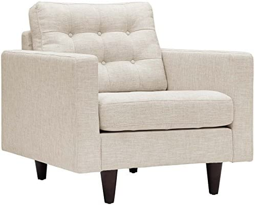 Modway Empress Mid-Century Modern Upholstered Fabric Two Armchair Set