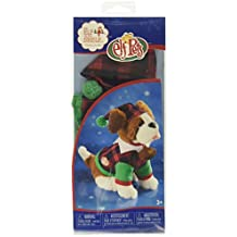 Elf on the Shelf Claus Couture Playful St Bernard PJs Doll, Red/Green