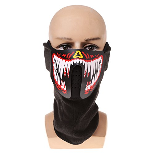 Seaskyer Led Mask Luminous Skull Mask Maske Masque Horreur Halloween Decoration Craft Supplies (#4)