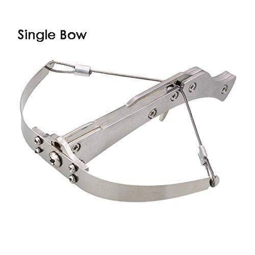 Fiesofheaven Stainless Steel Mini Crossbow Shooting Toy