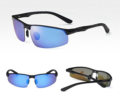 Óptico blue Chip Por glasses Sol Personalidad Sun Desplazamiento De Negra Gafas Retrovisor Nuevo Conductor Caja Hombres Espejo Automóvil Movimiento SfqUYT