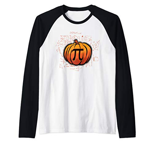 Pumpkin PI Funny Math Lover/Nerd Teacher Student Halloween Raglan Baseball Tee]()