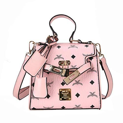 Señoras Las del Bromista De De Mano La Correa De Pink De Manera Black La La Bolso 5wYExR0x