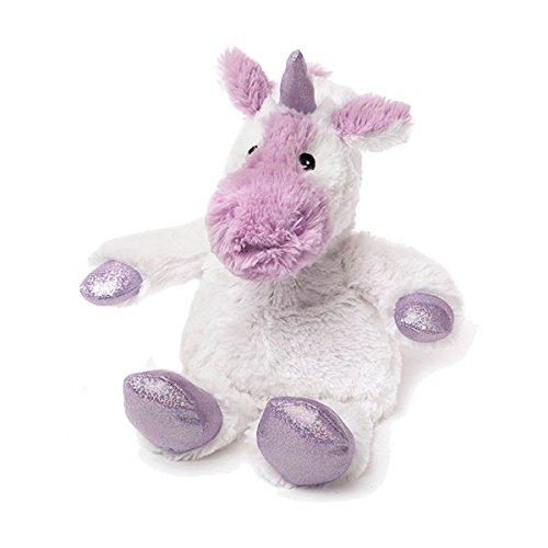 Warmies Cozy Plush Sparkly  White Unicorn Microwaveable toy Intelex Group UK 10649