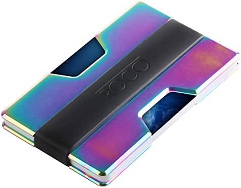 ROCO Minimalist Aluminum Slim Wallet RFID BLOCKING Money Clip - Army