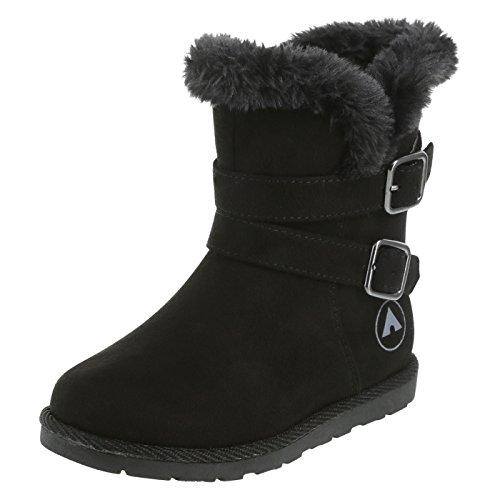 Airwalk Black Girls' Toddler Nia Cozy Buckle Boots 7 (Airwalk Boot)