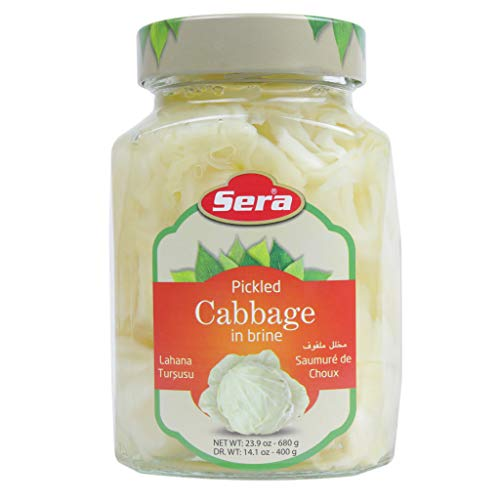 🥇 Sera Pickled Cabbage in Brine Delicious Pickle Great for Salads! Glass Jar 1.5 Lb