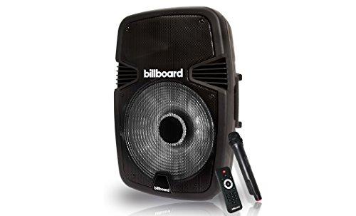 Billboard Party Machine Bluetooth Powered Speaker PM-1 Wireless Microphone, Huge Sound Long Lasting Battery Wireless Remote Control (Billboard Electronic)