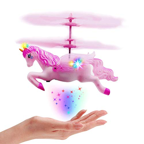 Flying Toys Unicorn & Horse for 5 6 7 8-14 Year Old Girls Gifts - Control by Hand and RC Controller,Great Toy Gifts for Girls