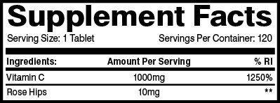 Vitamina C con Efecto Temporal Controlado de Flex-C con Escaramujos 1000mg 120 Cápsulas: Amazon.es: Salud y cuidado personal