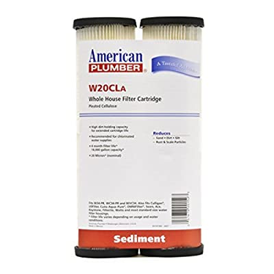 American Plumber W20CLA Whole House Sediment Filter Cartridge 20 Micron Well Pump Irrigation