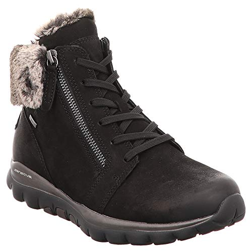 Gabor Womens 96.956 Lace-up Boots Black (Mel.)