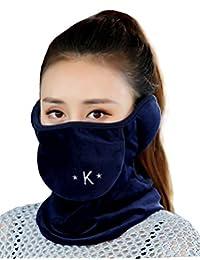 Unisex Winter Outdoor Warm Flannel Windproof Half Face Cover Earmuff Neck Warmer
