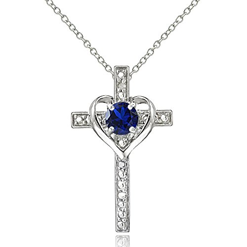sterling-silver-created-blue-sapphire-cross-heart-necklace-for-girls-teens-or-women