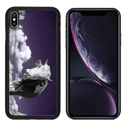 MSD Apple iPhone XR Case Aluminum Backplate Bumper Snap Case Image ID: 4751899 A Cow is in The Field is in an Infra red Color Shoot Special photocam ()